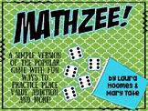 Mathzee! A Fun Math Game