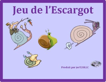 Matières (School Subjects in French) Escargot Snail game