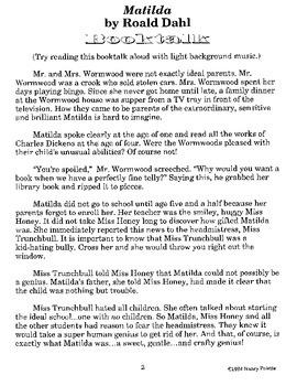 Matilda Literature Guide