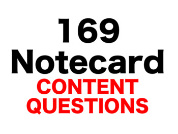 Matilda 169 Content Questions Whiteboard Game