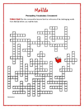 Forces crosswords teaching resources teachers pay teachers matilda 50 word warm up vocabulary crosswordgreat prep for the book ccuart Choice Image