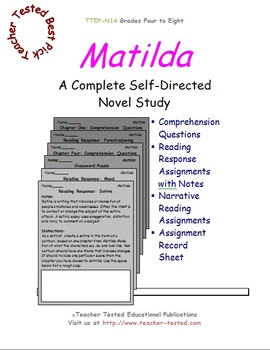 Matilda: A Complete Novel Study