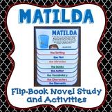 Matilda, Book Study, Flipbook, Activities, Vocabulary