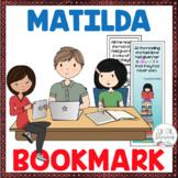 Matilda Novel Study Bookmark