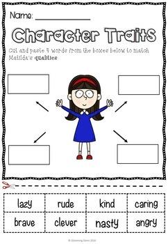 Matilda Character Traits Bundle