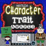 Matilda Novel Study - Character Traits Activities