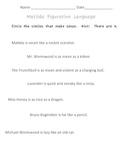 Matilda Figurative Language Quiz