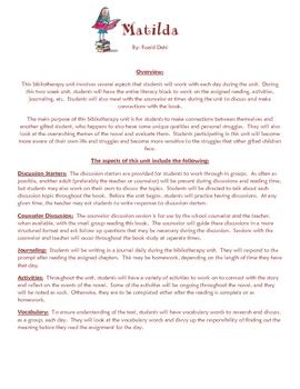 Booktopia a guide for using matilda in the classroom, literature.