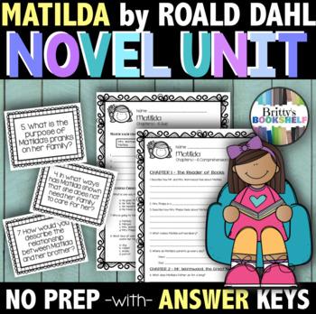 Matilda Literature Unit (A Novel Study)