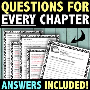 Matilda Novel Questions & Quizzes