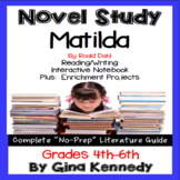 Matilda Novel Study and Enrichment Project Menu