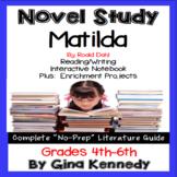 Matilda Novel Study and Enrichment Project Menu
