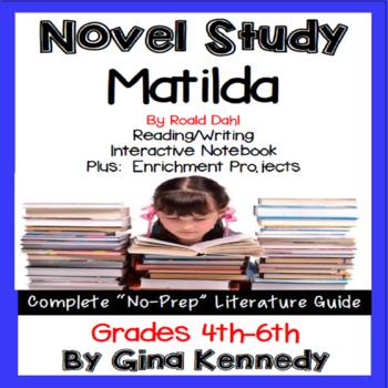 Matilda, Novel Study & Enrichment Project Menu