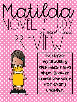 Matilda Novel Study Preview