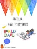 Matilda Novel Study - Roald Dahl - BIG KIDS - Interactive Notebook Pages