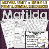Matilda Novel Unit