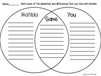 Matilda Novel Unit