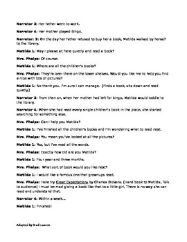 Matilda Play Script for the Classroom