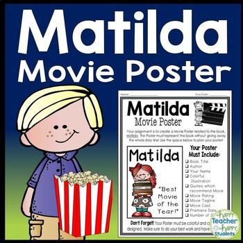 Matilda Project: Create a Movie Poster! (Matilda Book Report Activity)