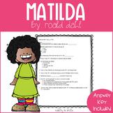 Matilda Quick Comprehension Quiz Checks