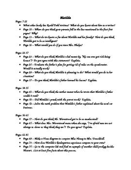 Matilda Reading Guide