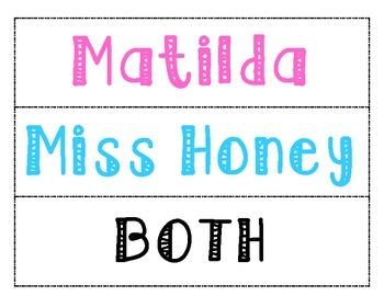 Matilda (Roald Dahl) - Compare and Contrast