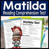 Matilda Test: Final Book Quiz with Answer Key