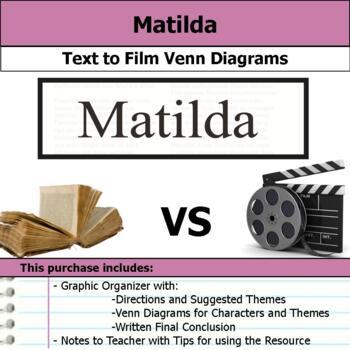 Matilda - Text to Film Venn Diagram & Written Conclusion