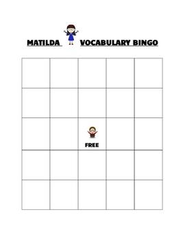 Matilda Vocabulary Bingo