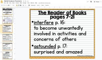 Matilda Vocabulary Presentation