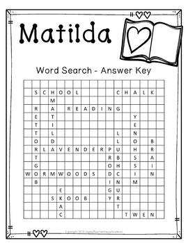 FREE Matilda Word Search Activity
