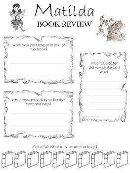 Matilda Workbook