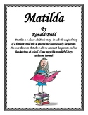Matilda a Book Report and Lapbook Project