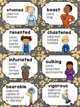 Matilda: Comprehension and Vocabulary by chapter