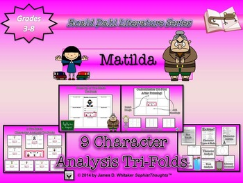 Matilda by Roald Dahl Character Analysis Tri-Folds