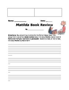 Matilda by Roald Dahl: Literacy Skills