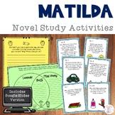 Matilda by Roald Dahl Novel Study Activities