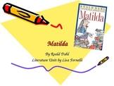 Matilda literature unit