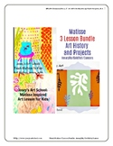 Matisse Art 3 Lesson Bundle Amaryllis Goldfish Dancer K-6t