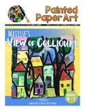 Art History Lessons: View of Collioure Matisse Trees and Mixed Media Mural