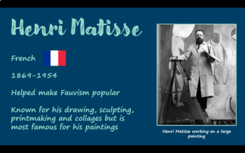 Matisse Cats and Dogs - Art project and presentation