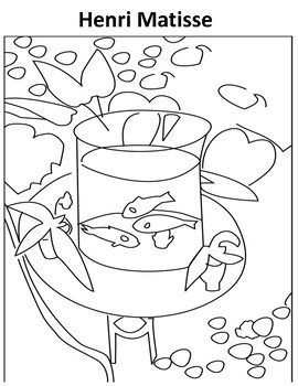 Matisse Coloring page by Sarah Kate Warner Teachers Pay Teachers