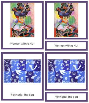 Matisse (Henri) 3-Part Art Cards - Color Borders