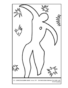 Matisse Coloring Page Teaching Resources Teachers Pay Teachers