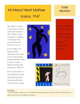 Matisse- Icarus Sketchbook Prompt