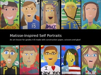Matisse Inspired Paper Self-Portait Collage Project Art Lesson