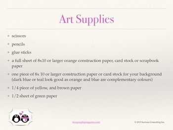 Art Lesson for Elementary - Henri Matisse Inspired Pumpkin (Paper Craft)