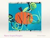 Fall Art Lesson - Henri Matisse Inspired Pumpkin (Paper Craft)