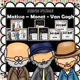 Matisse - Monet - Van Gogh - Artist Art & Bio Units- Bundl