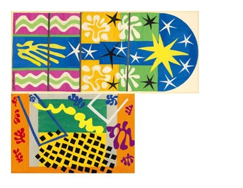 Matisse Paper Cut Out Animals and Instruments